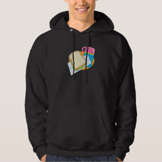 sandwich and thermos lunch vector design hoodie