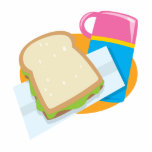 sandwich and thermos lunch vector design acrylic cut out
