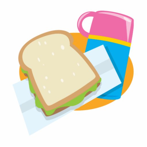 sandwich and thermos lunch vector design standing photo sculpture