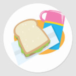 sandwich and thermos lunch vector design sticker