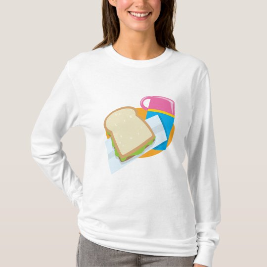 sandwich and thermos lunch vector design T-Shirt