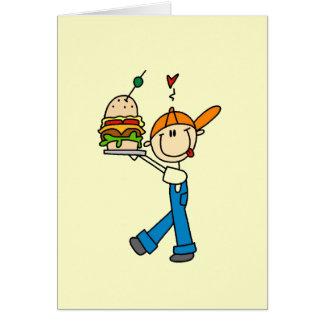 Sandwich Connoisseur Stick Figure Greeting Cards