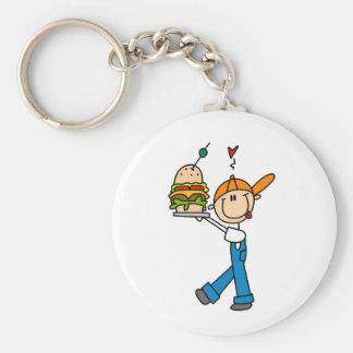 Sandwich Connoisseur Stick Figure Keychain
