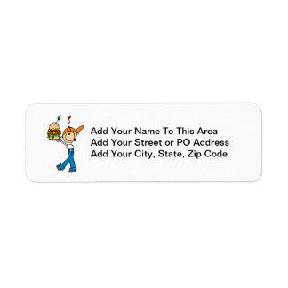 Sandwich Connoisseur Stick Figure Label