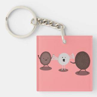 Sandwich Cookie Hugs, that loving filling. Keychain