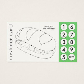sandwich cut out punch cards
