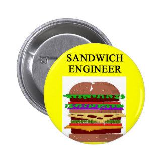 SANDWICH engineer joke 2 Inch Round Button