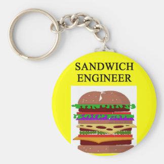 SANDWICH engineer joke Keychain