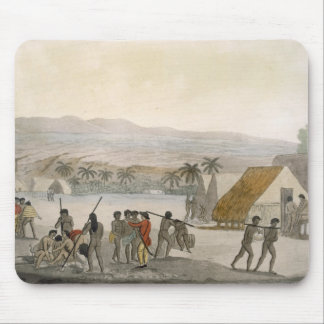 Sandwich Islands - a Westerner negotiating for sto Mouse Pad