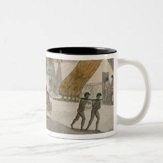 Sandwich Islands - a Westerner negotiating for sto Two-Tone Coffee Mug