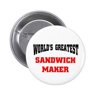 Sandwich maker 2 inch round button