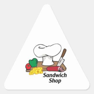 SANDWICH SHOP TRIANGLE STICKER