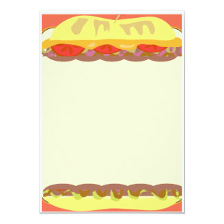 Sandwich Stationery 5x7 Paper Invitation Card