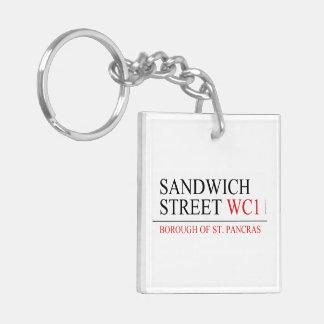 Sandwich Street Keychain