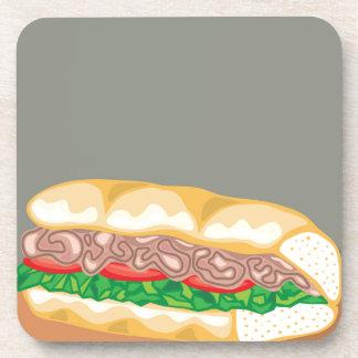 Sandwich Vector Beverage Coaster