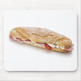 sandwich with ham and cheese mouse pad