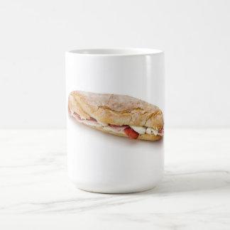 sandwich with ham and cheese classic white coffee mug
