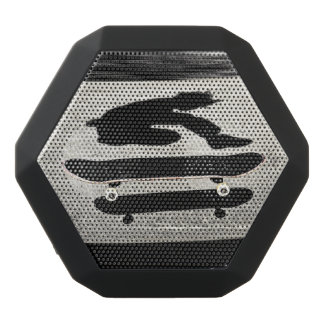 sandwiched skateboard black bluetooth speaker
