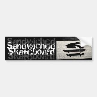 sandwiched skateboard bumper sticker