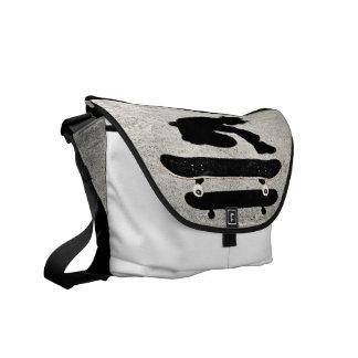 sandwiched skateboard courier bag