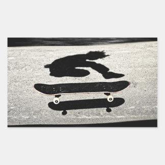 sandwiched skateboard rectangular sticker