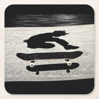 sandwiched skateboard square paper coaster