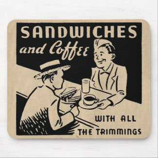 Sandwiches and Coffee Mouse Pad