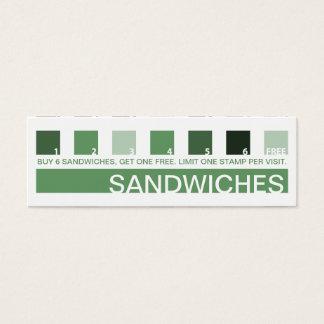 SANDWICHES customer appreciation (mod squares) Mini Business Card