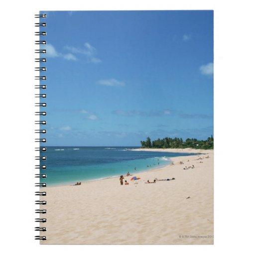 Sandy Beach 3 Spiral Notebook