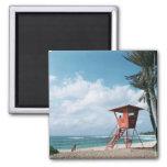 Sandy Beach 5 2 Inch Square Magnet