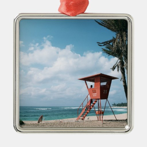 Sandy Beach 5 Christmas Ornament