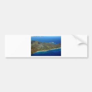 Sandy Beach Aerial Bumper Sticker