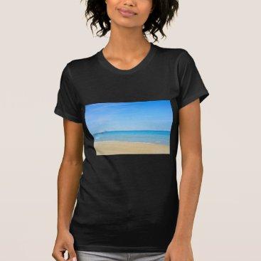 Beach Themed Sandy beach and blue Mediterranean sea T-Shirt