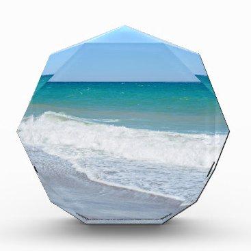 Beach Themed Sandy beach and Mediterranean sea Acrylic Award