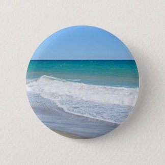 Sandy beach and Mediterranean sea Button