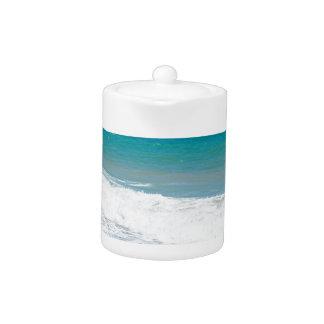 Sandy beach and Mediterranean sea Teapot
