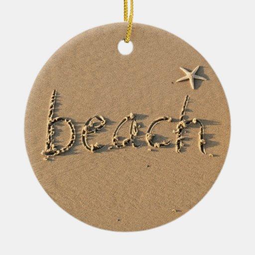Sandy Beach  and Starfish Christmas Ornament