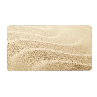 Sandy Beach Background For Summer Label