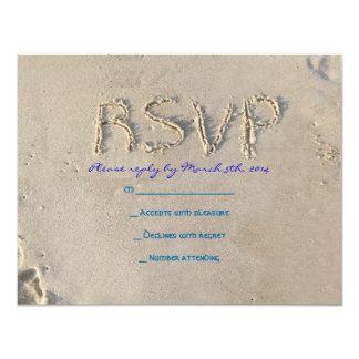 SANDY BEACH Bar Bat Mitzvah Invitation Reply Card