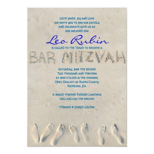 SANDY BEACH Bar Mitzvah Invitation