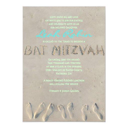 SANDY BEACH Bat Mitzvah Invitation