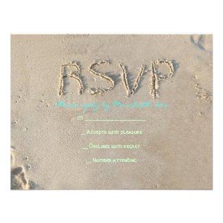 SANDY BEACH Bat Mitzvah Invitation Reply Card