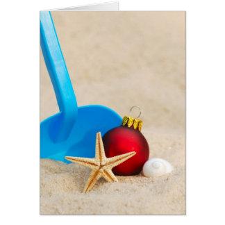 Sandy Beach Christmas Card