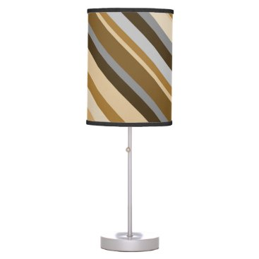 Beach Themed Sandy Beach Colors Inspired Striped Pattern Desk Lamp