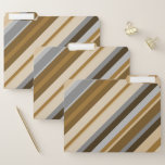 [ Thumbnail: Sandy Beach Colors Inspired Striped Pattern File Folder ]