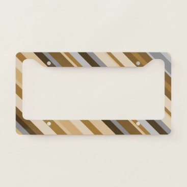 Beach Themed Sandy Beach Colors Inspired Striped Pattern License Plate Frame