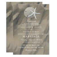 Sandy Beach Display Wedding Invitation