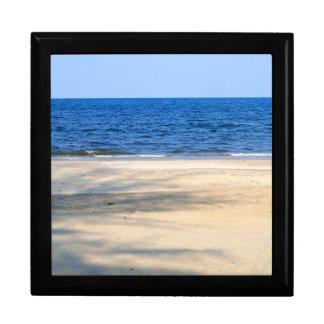Sandy beach jewelry box