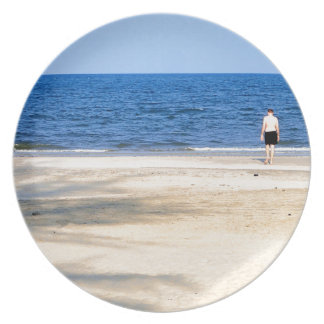 Sandy beach melamine plate