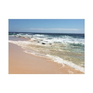 Beach Themed Sandy Beach, Oahu~Photo by Jacqueline Kruse Canvas Print